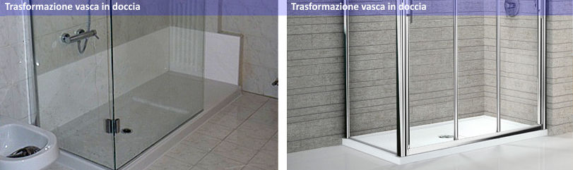 Trasformare la vasca da bagno a box doccia arredo bagno torino - Box per vasca da bagno ...